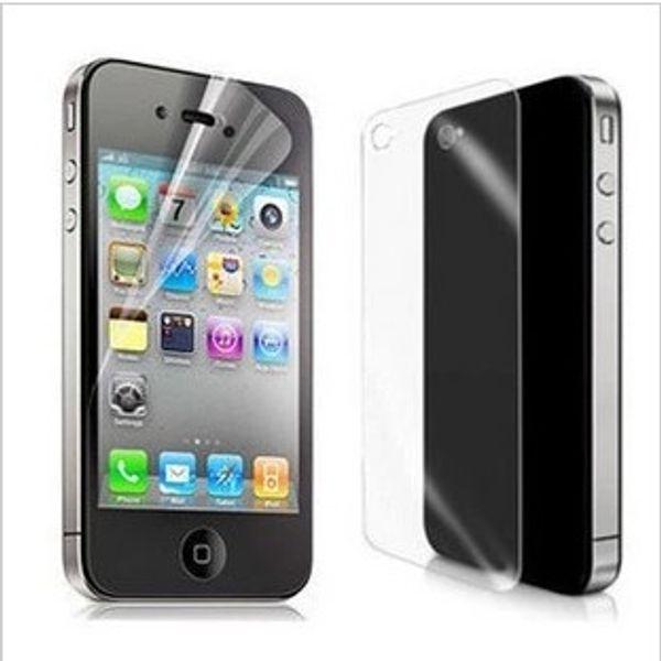 Alta definição frente e verso protetor de tela lcd guarda capa nova marca anti-risco para iphone4 iphone 4 4s 500 conjuntos