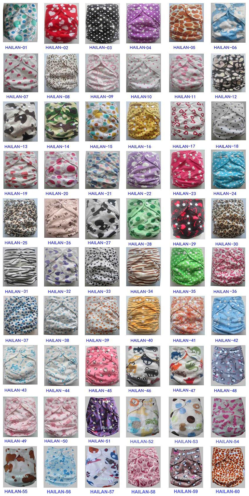 New Minky covers Baby Infant Cloth Diapers Without Inserts Reusuable Nappy Covers