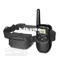 mostrar perros al por mayor-Venta al por mayor - Nuevo collar de entrenamiento para mascotas con control remoto y pantalla LCD # 8092