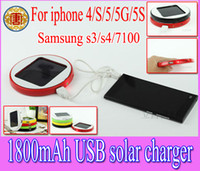 Wholesale Sumsang S3 - 1800mAh Window Solar charger rechargeable Backup battery Power bank for iphone5 iphone 5 4 4S sumsang S3 S4 I9500,N7100,moble phone