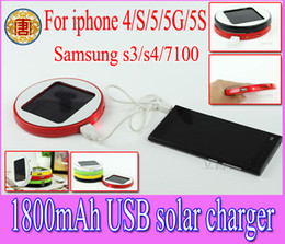 Wholesale Solar 4s - 1800mAh Window Solar charger rechargeable Backup battery Power bank for iphone5 iphone 5 4 4S sumsang S3 S4 I9500,N7100,moble phone