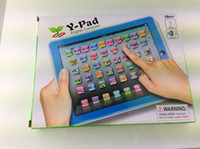 Wholesale English Ypad - ypad Y-pad Table Learning Machine English Computer for Kids Children Educational Toys Music+Led good quality 10pcs DHL free shipping