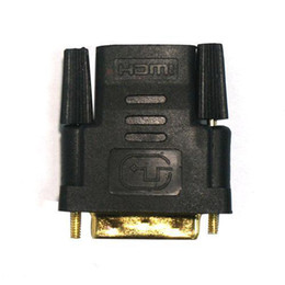Wholesale F Male Adapter - S5Q DVI Male to HDMI Female M-F Adapter Converter For HDTV Gold Plated Connector AAAANL