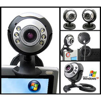 S5Q 12MP Mic Webcam USB 6 LED Webcam Cam Câmera Digital Para PC Laptop MSN Skype Novo AAAACP