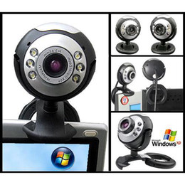 S5Q 12MP Mic Webcam USB 6 LED Web Cam Camera Camcorder For Laptop Pc Online MSN Skype New AAAACP