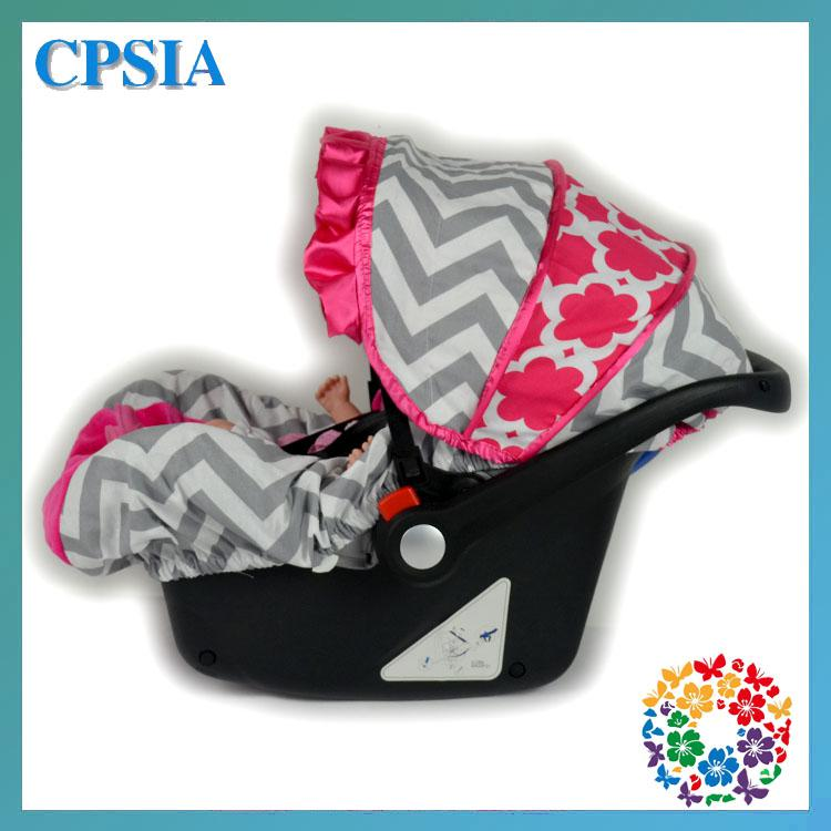 2018 Chevron Hot Pink Flower Print Infant Car Seat Canopy Cover Fit Most Baby Infant Car Seat New Arrival Fashion Car Seat Covers 08 From Happychildren