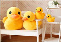 "Wholesale Birthday Rubber Duck - 2PCS LOT 12"" Cute Giant Rubber Duck Plush Dolls Birthday Gifts Stuffed Pillow MA1116"