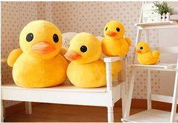 "Wholesale Duck Pillows - 2PCS LOT 12"" Cute Giant Rubber Duck Plush Dolls Birthday Gifts Stuffed Pillow MA1116"