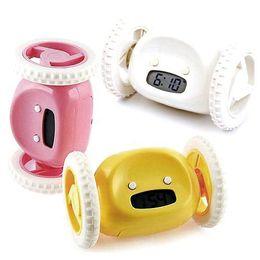 Wholesale Running Jumping - S5Q New Geek Running & Jumping Digital Robot Loud Alarm Clock Kid Boy Girl Toy Gift AAAAHV