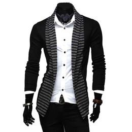 Wholesale Men Stripe Jacket Blazer - S5Q Fashion Mens Casual stripes Slim Fit Suit Blazer Coats Jackets AAACQM