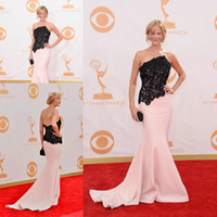 Wholesale Emmys Dresses - Anna Gunn Emmys 2017 Red Carpet Mermaid Lace Long Celebrity Gown Evening Dress CD051