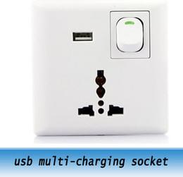 2019 enchufes de banana de cobre Fuente de alimentación de pared 10pcs USB enchufes de pared \ usb multi-carga socket / usb universal socket 110V-220V