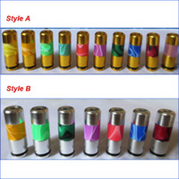 Wholesale Electronic Cigarette Aluminum Drip Tip - Colorful candy Mouthpiece metal Drip Tips Acrylic and Aluminum drip tip for ego-t ego-c ego-vv 510 thread E Cigarette Electronic Cigarette