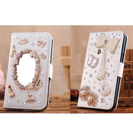 Wholesale Galaxy S3 Bling Wallet Case - S5Q Bling Flip Magnetic Pu Leather Wallet Case Cover for Samsung Galaxy S3 AAACAT