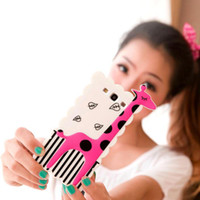 Wholesale Cool Covers For Galaxy S3 - S5Q Cute Giraffe Cool Case Cover For Samsung Galaxy S3 I9300 AAACJY