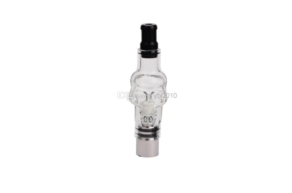 Skull Glass globes Atomizer kit with 2 Core coil cartomizer tank Pyre wax dry herb vaporizer clearomizer for e cig Electronic cigarette