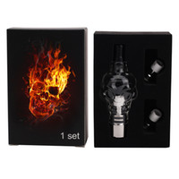 Wholesale Cartomizer Tank For Wax - Skull Glass globes Atomizer kit with 2 Core coil cartomizer tank for wax dry herb vaporizer e clearomizer for e cig Electronic cigarette