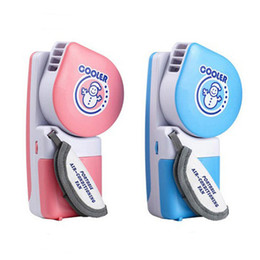 Wholesale Electric Portable Blower - S5Q Portable Handheld USB Mini Air Conditioner Cooler Electric Fan Blower Pocket Size AAACBH