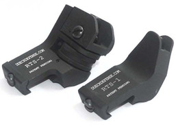 Wholesale Tactical Angle Sight - Metal Front & Rear RTS Rapid Transition Sights   Offset 45 Degree Angled Iron Sight SET DUECK DEFENSE Tactical front sights