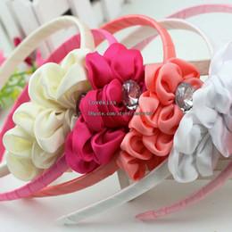 Wholesale Headwear Flower - Kids Hair Bows With Flower Hair Things Baby Hair Accessories Girls Cute Princess Hair Bows Fashion Headwear Childrens Accessories Hairbows