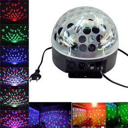 Wholesale Mini Ktv - New Arrival Mini Voice-activated Disco DJ Stage Lighting LED RGB Crystal Magic Ball 6CH DMX 512 light 20W KTV Party 20pcs lot Freeshiping