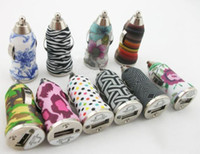 Wholesale Iphone Car Charger Zebra - 5V 1A Universal Camouflage Zebra Stripe Car Charger For iPhone 5S 3GS 4S
