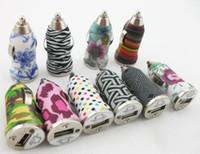 carregador de camuflagem venda por atacado-Carregador universal do carro da listra da zebra da camuflagem de 5V 1A para o iPhone 5S 3GS 4S