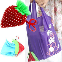 Wholesale Nylon Recycling Bag - New Arrival AGnylon Strawberry Foldable Reusable Recycle Carrier Tote Bag Women Convenience Shopping Bags PA18 smileseller