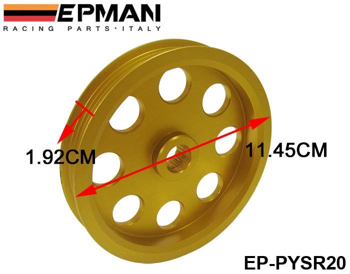 EPMAN Light Weight Crank Remskiva för Nissan Silvia S14 S15 SR20-remskiva EP-PYSR20 H. Q. Har i lager