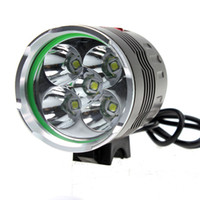 Wholesale Low Price Lights - low price HeadLamp Bicycle Lamp 5x CREE XM-L T6 LED 7000Lumen Bicycle bike Light 6400mAh battery pack