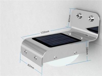 Solar Powered Wall Lamp 16 LED Wall Light Illuminate Garden Yard Lamp Waterproof Wireless Solar Motion Detection Sensor Light
