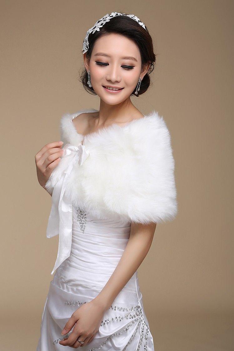 ウェディングドレスアクセサリーブライダルジャケットアイボリーの毛皮ボリーロス肩の花嫁の包み込みリボンサッシトリム