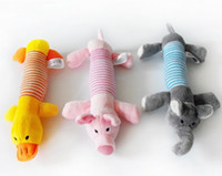 Wholesale Puppy Toy Pig Squeaker - Free shipping New Dog Toys Pet Puppy Chew Squeaker Squeaky Plush Sound Pig & Elephant Toys products