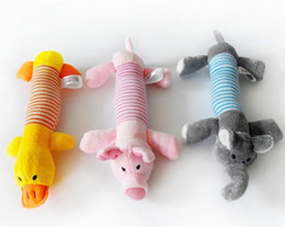 Wholesale Toy Pigs Wholesalers - Free shipping New Dog Toys Pet Puppy Chew Squeaker Squeaky Plush Sound Pig & Elephant Toys products