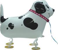 mascotas globos al por mayor-30 unids dálmatas perro caminando mascota helio globos niños decoraciones de la fiesta de cumpleaños juguetes inflables regalos para juegos de niños