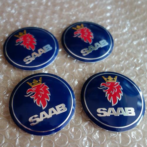 565mm 3d Saab Logo Car Wheel Cap Badge Emblem Sticker Auto Grille