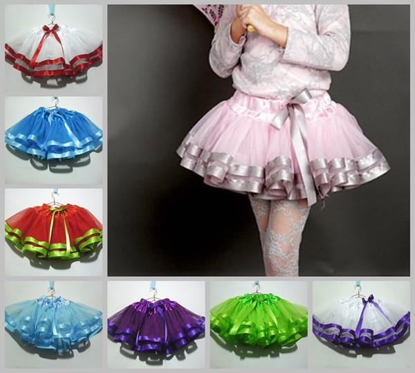 best selling new girls christmas tutu skirt 3 layers baby girls princess skirts splicing process tutu pettiskirt skirt Choose Color & Size Freely 5pc lot