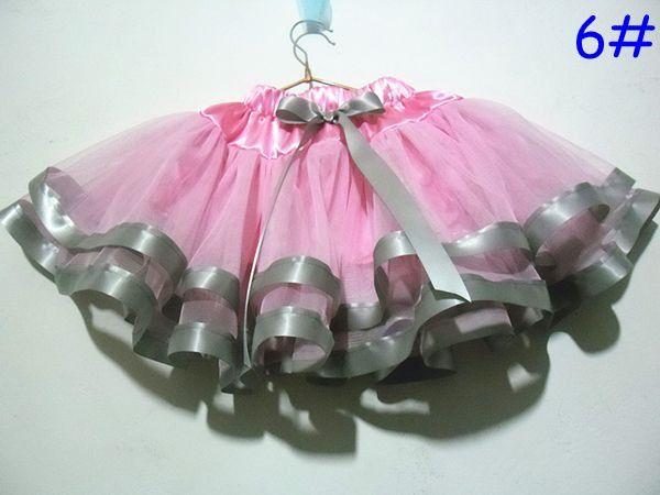 новые девушки Рождество Туту юбка 3 слоя новорожденных девочек принцесса юбки процесс сращивания Туту юбка pettiskirt выбрать цвет размер свободно 5 шт. / лот