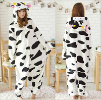 Wholesale Adult Onsie Pajamas - Mens Ladies Cow Onesie Adult Animal Onesies Onsie Kigurumi Pyjamas Pajamas cosplay Costumes R318 S M L XL XL