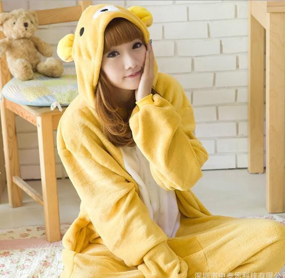Señoras para hombre amarillo Onesie Animal adulto Onesies Onsie Kigurumi pijamas pijamas cosplay disfraces R329 S / M / L / XL / XL