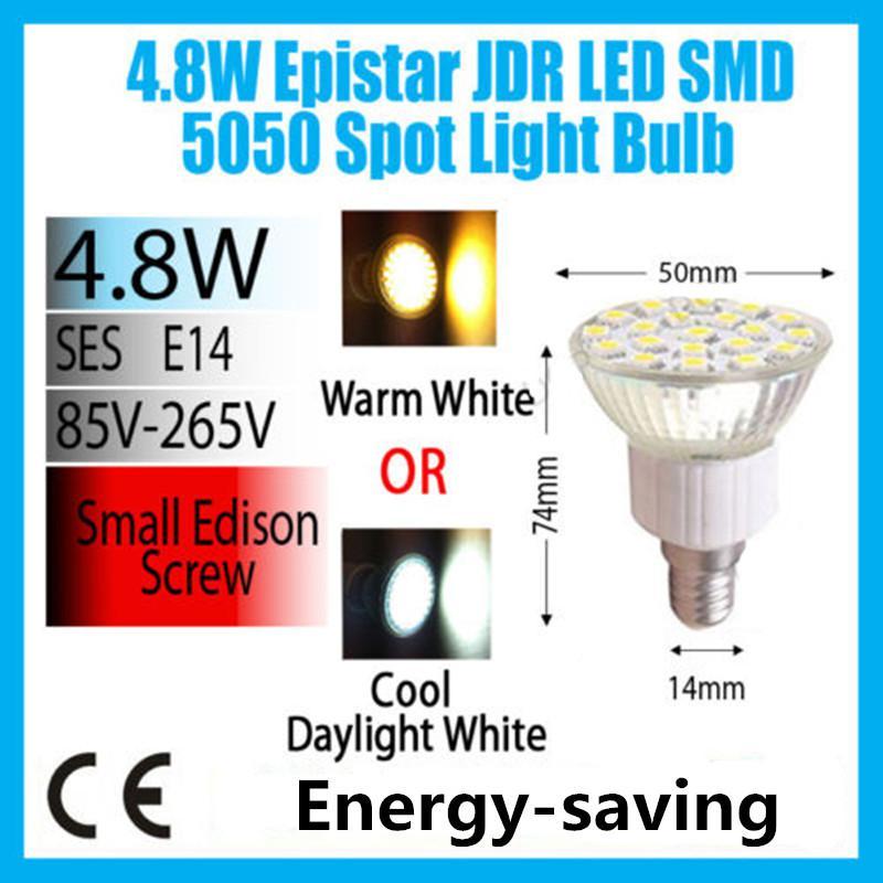 Lampadina LED Spot 4.8W GU10 MR16 E14 E27 B22 Lampade a luce bianca o diurna a bassissima energia