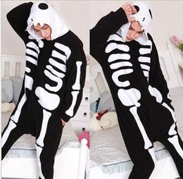 Wholesale Skull Onesie - Womens Mens Unisex Skull Jumpsuit Onesie Pyjamas Costumes Cosplay R379 S--XL