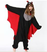 Wholesale Onesies Animals Adults - Sexy Mens Ladies Black Bat fancy Dress Onesie Adult Animal Onesies Pyjamas Pajamas cosplay Costumes R350 S M L XL XL