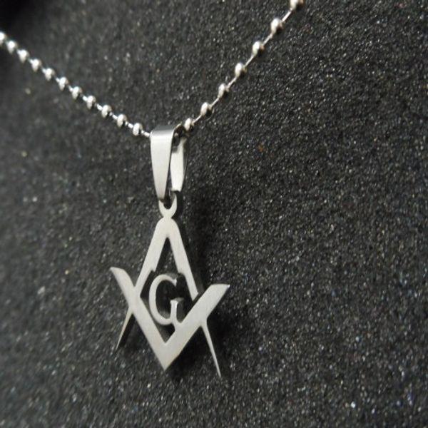 Серия 10шт новый мужской масонский эмблема ожерелье кулон ювелирные изделия из нержавеющей стали США бесплатная цепь