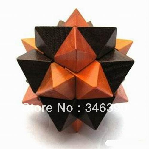best selling New HOT Adult puzzles pineapple wood 3D Brain Teaser Wooden Puzzle fancy toy