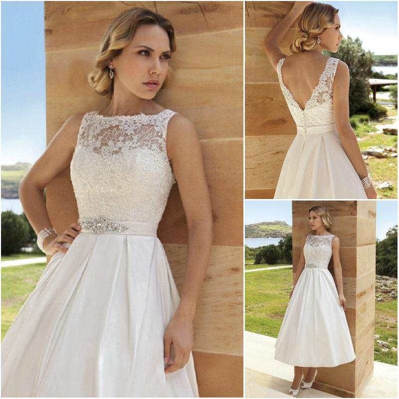 Discount 2014 demetrios bride wedding dresses short vintage lace discount 2014 demetrios bride wedding dresses short vintage lace tea length dr194 bateau elegant prom formal gown a line ball gown taffeta line wedding junglespirit Choice Image