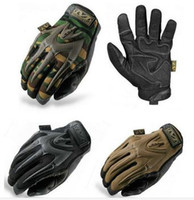 Wholesale Wholesale Tactical Gloves - Free shipping new sale low price MECHANIX SEALs Tactical gloves cycling hiking slip gloves full finger Big M 4 color MP Sale-Seller