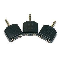 Wholesale Pc Audio Splitter - S5Q 3.5mm stereo Audio Jack 1to2 Splitter Adapter For PC Headphone Earphone MP4 AAAAOQ