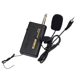 Wholesale Wireless Microphone Transmitter System - S5Q Wireless FM Transmitter Receiver Lavalier Lapel Clip Microphone Mic System AAACFP