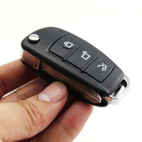 Wholesale Car Key Camera Night - HD 1080P CCD S820 Spy car key camera with IR night vision Motion Detection Mini DV DVR Keychain hidden camera video recorder